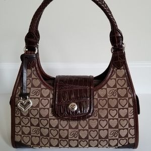 Classic Brighton Brown Jacquard Signature Handbag